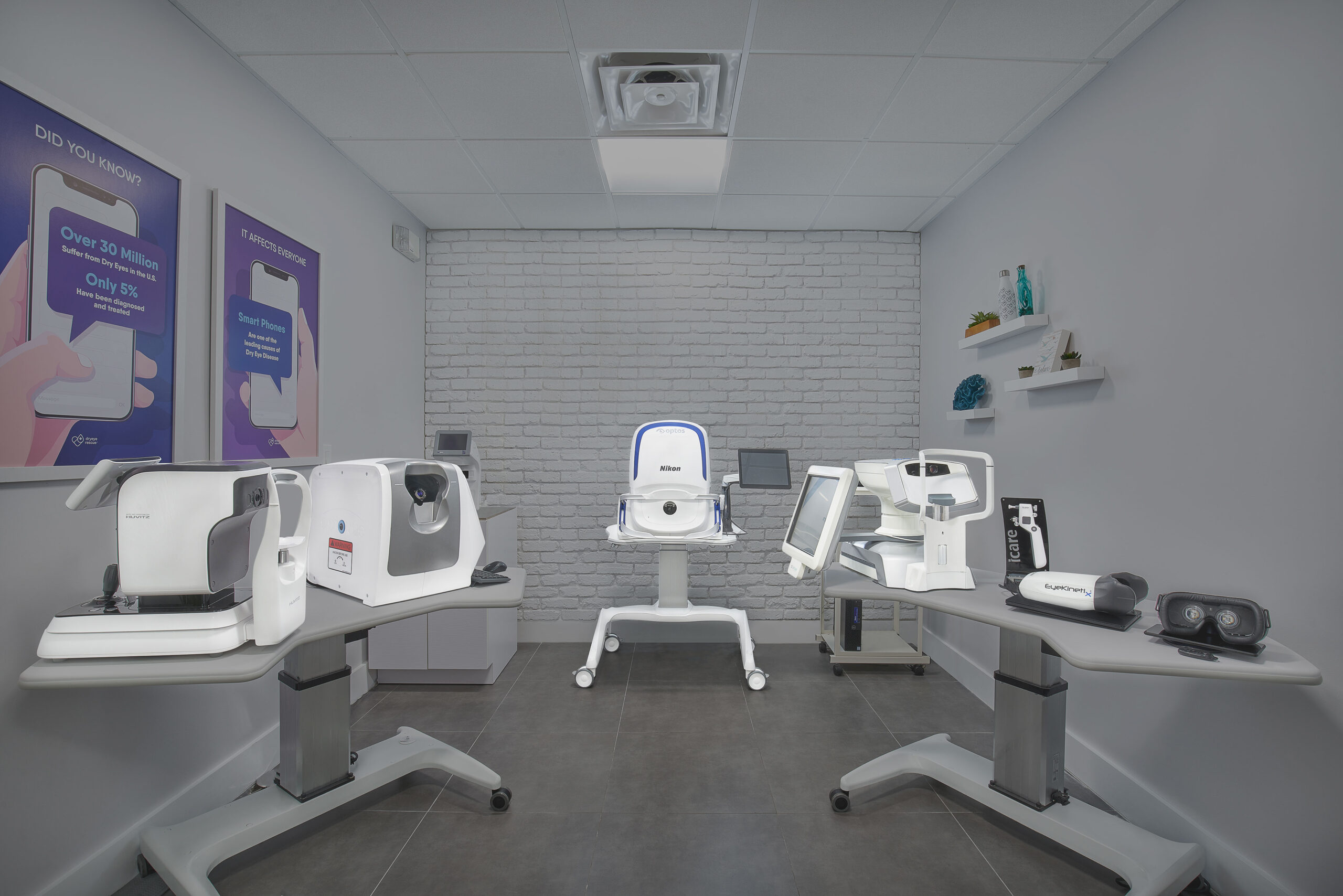 Bocaview Optical's Preliminary Testing pre-test room for eye care.